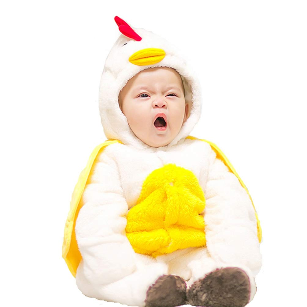 HappyTop Chicken Baby Costume Toddler Romper Cotton Jumpsuit for Newborn to 18 Months