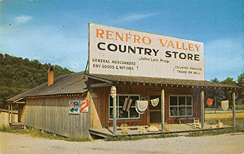 Renfro Valley Kentucky Country Store Street View Vintage Postcard - View Valley Stores