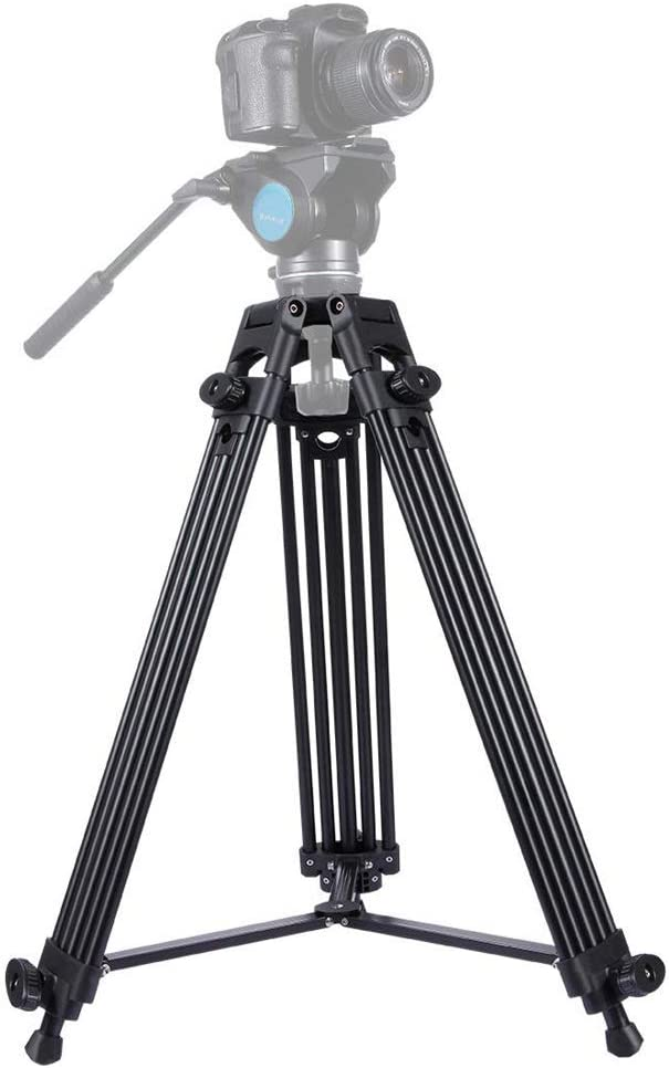 Color : Gold, Size : One Size Portable Photography Tripod Heavy Duty Aluminum Alloy Tripod for DSLR SLR Camera Video Camcorder