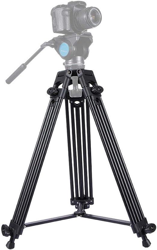 Color : Black, Size : One Size Lyntop Travel Camera Tripod Heavy Duty Aluminum Alloy Tripod for DSLR SLR Camera Video Camcorder