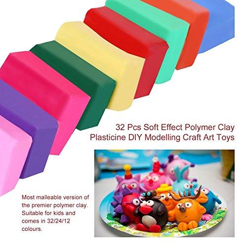 Ballylelly 32 Pezzi Effetto Morbido plastilina plastilina modellistica Fai da Te Artigianale Giocattoli d'Arte