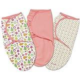 Summer Infant SwaddleMe 3 Piece Adjustable Infant Wrap, Fun Fruits, Small/Medium