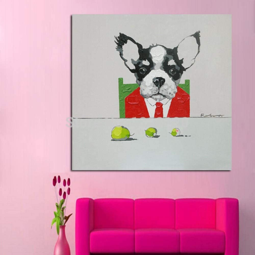 Pintura Al Óleo Pintada A Mano Estilo Animal Perro Médico Abstracto Pintura De Decoración Del Hogar Pintura Sobre Lienzo Dormitorio Sala De Estar Decoración De La Habitación De Los Niños Pintura
