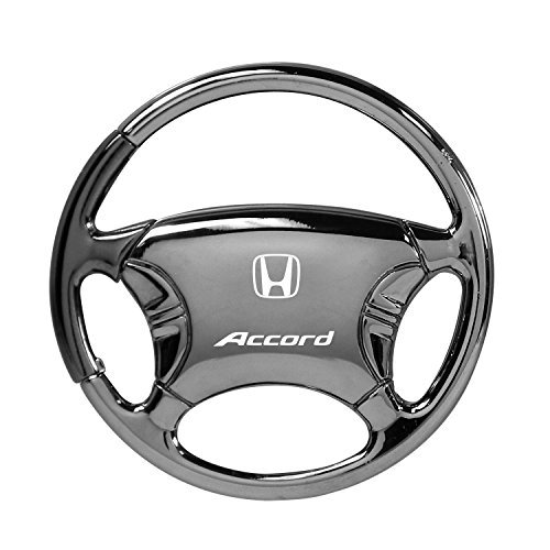 Honda Accord Black Chrome Steering Wheel Key (Steering Wheel Keychain Ring)