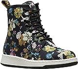Dr. Martens Women's Newton DF Fashion Boot, Black Darcy Floral Fine Canvas, 5 Medium UK (7 US)