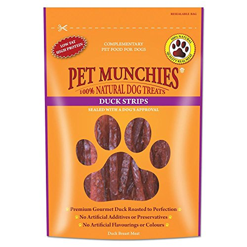 Pet Munchies Natural Duck Strips (3.2oz) (May Vary)