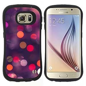 "Pulsar iFace Series Tpu silicona Carcasa Funda Case para Samsung Galaxy S6 , Glitter puntos Spots Rosa Púrpura Naranja"""