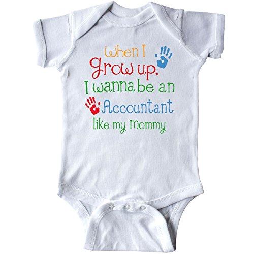 inktastic - Accountant Like Mommy Infant Creeper Newborn White 247f5