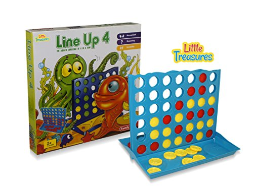 Little Treasures Master Line Up 4 in a Row of Your Color to Win, Fun Popular Board Game, Great Gift Idea ()