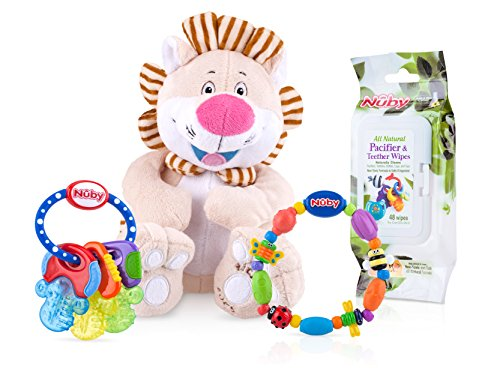 Nuby 4 Piece Teether And Toy Gift Set  Styles May Vary