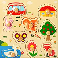 FunBlast Wooden Colorful Learning Educational Board for Kids Set of 1 Puzzle Board - Pet Animal