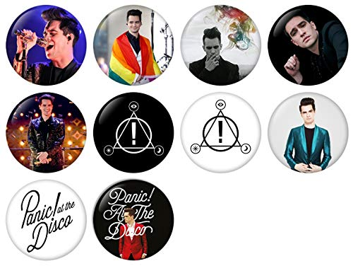 Panic At The Disco Pinback Button Badge 1 Inch (25mm) Set, Pack of 10 New