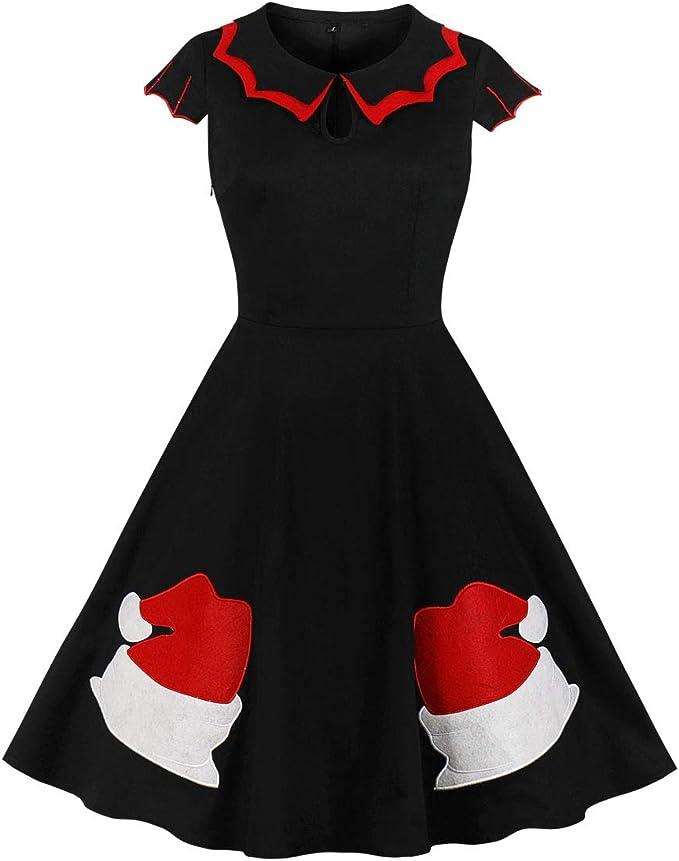 Vintage Red Dresses | Valentines Day Dresses, Outfits, Lingerie Wellwits Womens Plus Size Bat Spider Web Embroidery Halloween Vintage Dress $25.98 AT vintagedancer.com