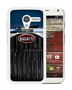 New Fashion Custom Designed Cover Case For Motorola Moto X With bugatti 2 White Phone Case
