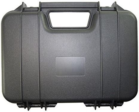 Negro Plástico Duro pistola pistola caso caja de transporte para ...