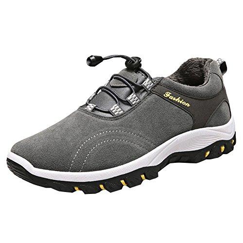 Gris Foncé Chaussures Homme Homme Chaussures Randonnée de Randonnée Fourrure Respirant Marche Basses vAa7axzqw