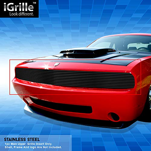 Off Roader Black Stainless Steel Egrille Billet Grille Grill For 2009 2014 Dodge Challenger Phantom