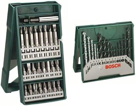 Bosch X-Line - Pack de 25 puntas para atornillar + X-Line - Conjunto de 15 bs para madera, piedra y metal: Amazon.es: Bricolaje y herramientas