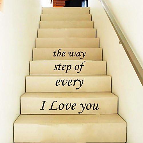 Adhesivos de pared escalera citas te amo cada paso del camino onestopdiy – Funda Stairway escaleras de pared pegatinas de vinilo para dormitorio Murales: Amazon.es: Bricolaje y herramientas