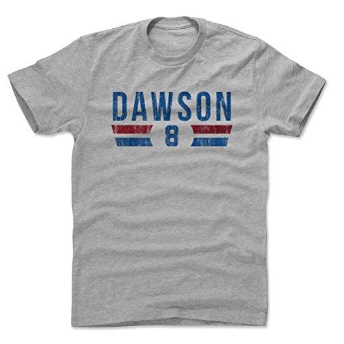 500 LEVEL Andre Dawson Cotton Shirt X-Large Heather Gray - Vintage Chicago Baseball Men's Apparel - Andre Dawson Font - T-shirt Cubs Vintage
