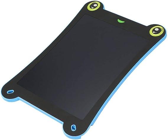 カエル型8.5インチ超薄型LCD描画ボードポータブル手書きタブレット、スタイラス、キッズ用電子グラフィックEライター(青)