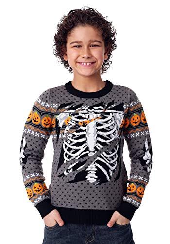 Halloween Skeleton Sweater (FUN Wear Child Ripped Open Skeleton Halloween Sweater)