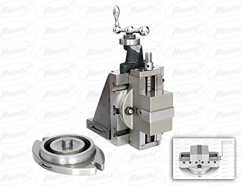 Lathe Milling Vertical Slide 100 x 125 mm & 2'' (50 mm) Self Centering Vice For Instant Milling Solution on Lathe by Global Tools