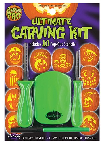 The Ultimate Pumpkin Carving Kit with 10 Pop-Out -