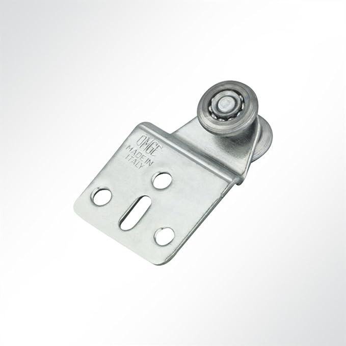 LYSEL Laufrolle F/ührungsrollen Laufwagen verzinkt f/ür Laufschiene 25x19mm Schiebetor 10 St/ück