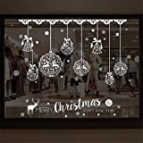 Removable Christmas Window Decal, Christmas Wall Stickers for Kids,Home Store Christmas Decorations Ornament