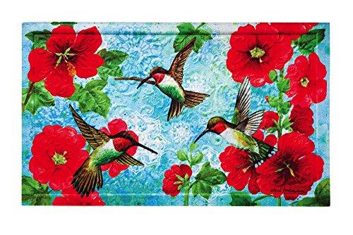 Hummingbird Mat Floor - Evergreen Garden 41EM2154 Hummingbird Floor Embossed Door Mat, Multicolor