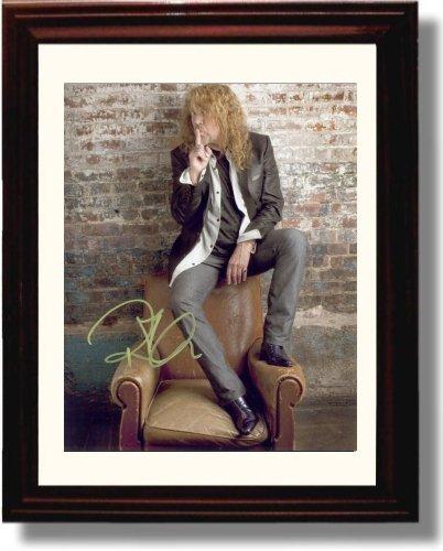 (Framed Robert Plant Autograph Replica Print)