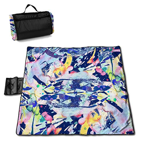 Lokjjtvfrxcgtg Ethnic Pattern Watercolor Abstract Tribal Seamless Large Waterproof Outdoor Picnic Mat Beach Mat Sandproof Tote for Camping Hiking Travelling 57 * 59in