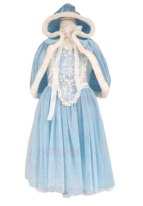 Più affidabile scarpe casual prezzo moderato MissFox Vestito Principessa Bambina Vestiti Carnevale 110CM Blu Luce