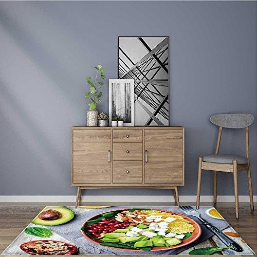 Carpet Bathroom Shower Pad spinach feta avocado pomegranate orange almond salad with orange vinegar dressing for any hard Surface Floor W24 x L35.5 INCH