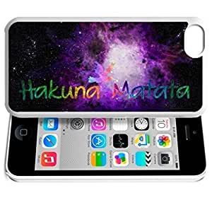 Africa Ancient Proverb HAKUNA MATATA Color Accelerating Universe Star Design Pattern HD Durable Hard Ldlqlk9bq8V Plastic case cover for iPhone 5C