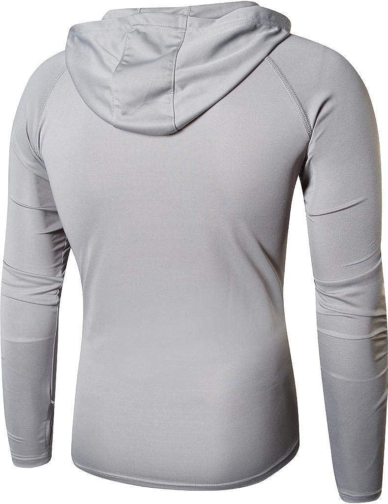 Sun Protection Hoodie Long Sleeve Performance Hiking Running Fishing T-Shirt Tee Shirt Tshirt LA271 jeansian Mens UPF 50