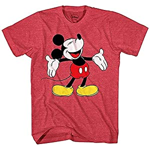 Disney Boys' Mickey Mouse Shirt Laughing Mickey Vintage Yout Kids Officially Licensed Tee
