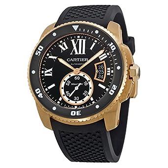 réplica Cartier Calibre de Cartier Diver 42mm Rosa Oro reloj W7100052