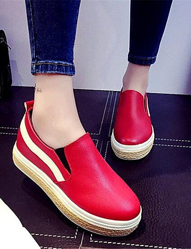 cn39 de uk6 Creepers Plataforma eu39 cn39 uk6 Mocasines us8 Blanco Exterior eu39 us8 red red ZQ gyht eu39 uk6 Casual mujer cn39 Semicuero Negro red Rojo Zapatos us8 EFwpCq