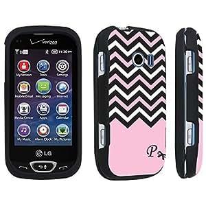 DuroCase ? LG Extravert 2 Hard Case Black - (Black Pink White Chevron P)