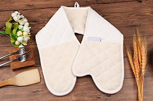 LHome Pot towel - Professional Grade All-In-One Potholder, Extra Long Heat Resistant Kitchen oven mitts, Heat Resistant up to 420ºF (35 Inch) by LHome