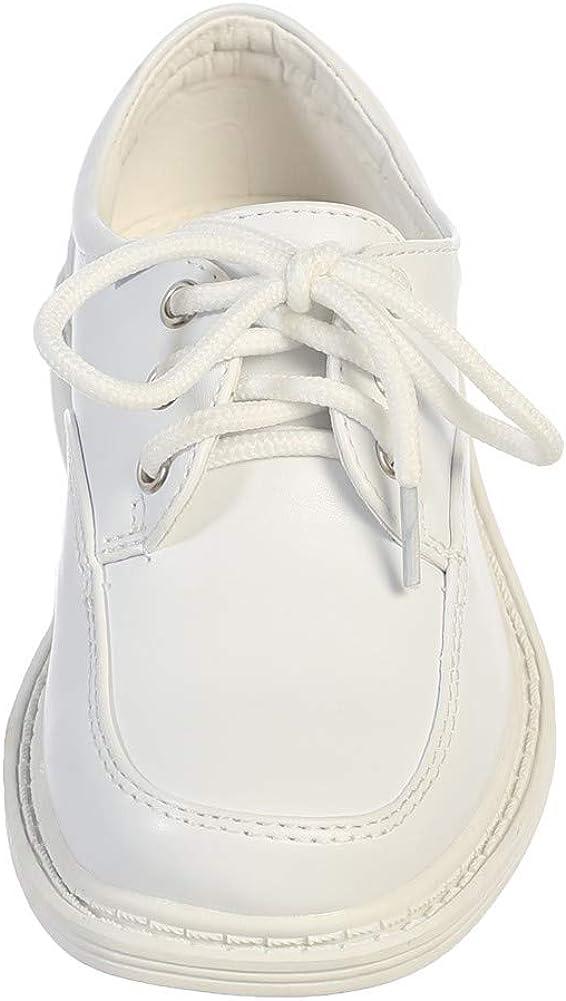 Lito Little Big Boys White Lace Up Matte Special Occasion Dress Shoes 11-6 Kids