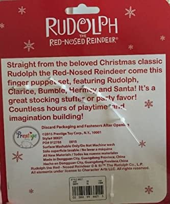 Rudolph The Red-Nosed Reindeer Finger Puppets- 5 Pieces from Prestige Toy Corp