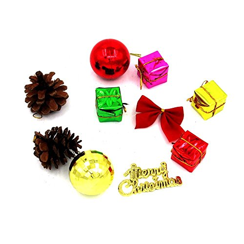 MeineBeauty クリスマスツリーの飾り 10種類のペンダント クリスマスツリー 吊り飾り の商品画像