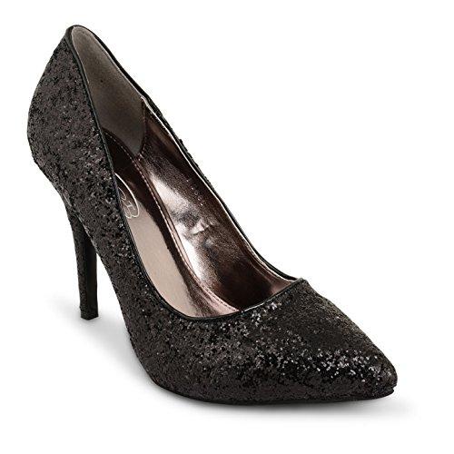Tilly Shoes punta tacón BODA novia Prom Smart trabajo fiesta noche Oficina de Trabajo Zapatos Bombas Tamaño negro brillante