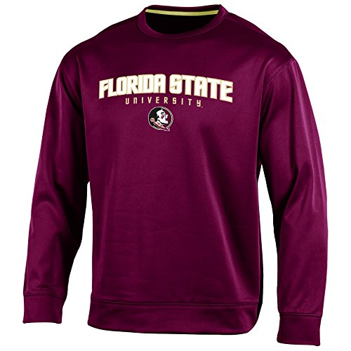 - NCAA Florida State Seminoles Adult Men Long sleeve Crew Neck Fle, X-Large, Garnet