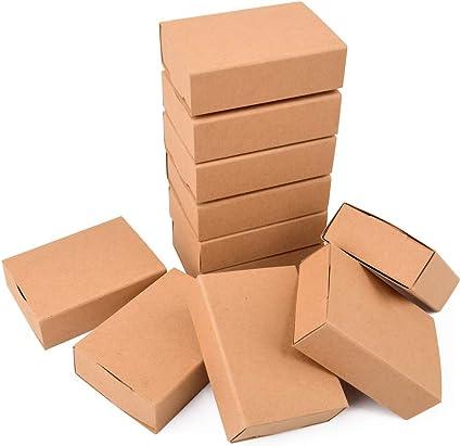ewtshop® 24 Cajas de cerillas en Blanco de Papel de estraza + 24 ...