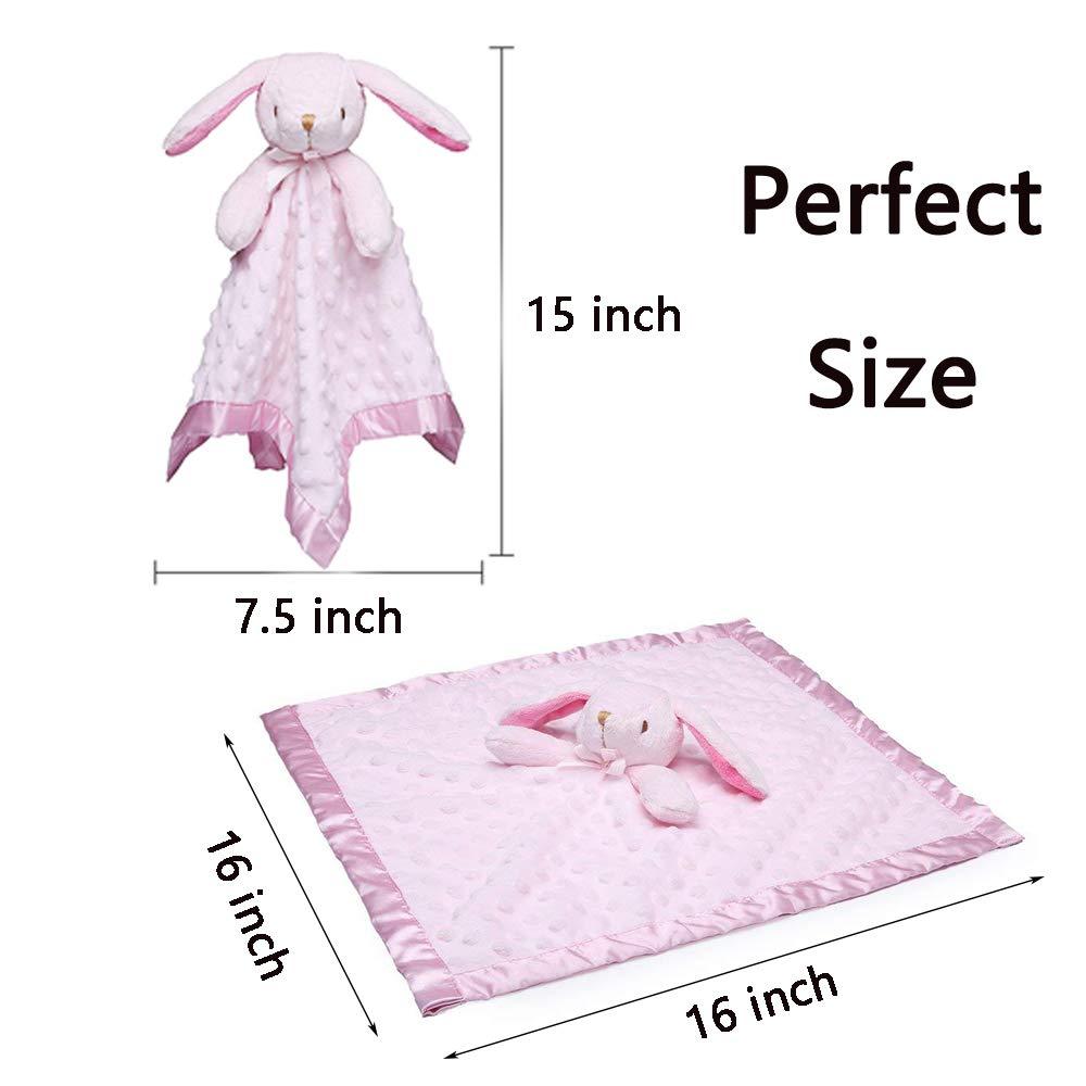 Pro Goleem Fox Baby Lovey Stuffed Plush Lovie//Security Blanket Minky Dot Fabric Blankie Best Gift for Newborn//Infant 15, Orange