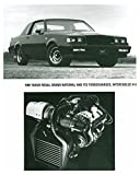 1987 Buick Regal Grand National Turbocharged V6 Automobile Factory Photo